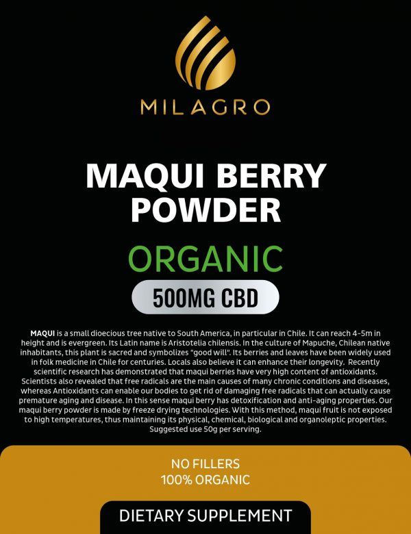 Milagro Maqui Berry 500mg CBD Powder