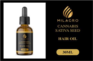 Milagro Cannabis Sativa Seed hair oil