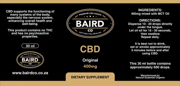 400mg label image Bairdco