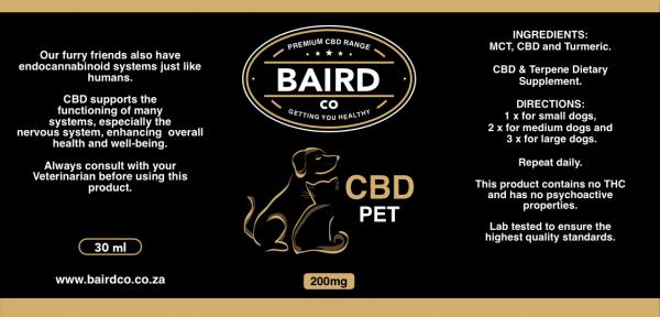 BairdCo Pet CBD - 200mg 2
